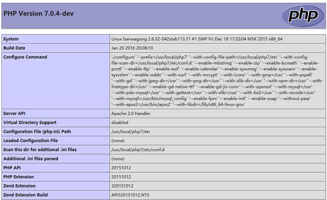 检查PHP7环节是否正常