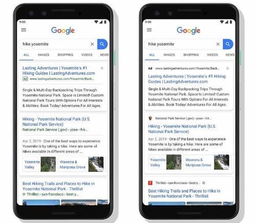 Google自然搜索结果页面有新变化 Google 微新闻 第1张