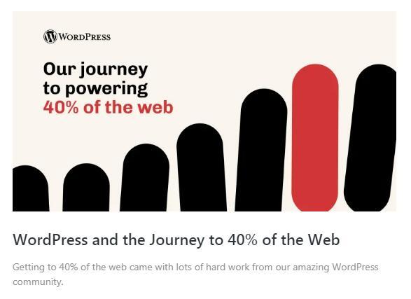 2021年WordPress市场份额突破40% 建站工具 建站方向 微新闻 第1张